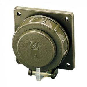 gniazdo wojskowe tablicowe proste 230V podstawa kwadratowa